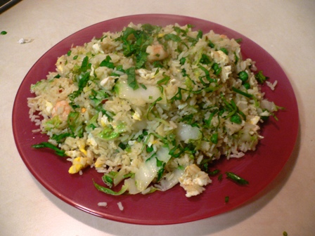 Chinese Fried Rice with Shrimp